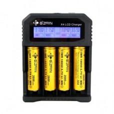 Caricabatterie EFAN X4 LCD con USB e caricabatteria per auto