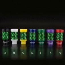 Drip Tip Carbon Fiber Green Tobeco