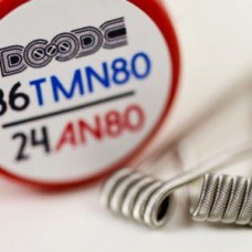 Squidoode - 2 x Fused Clapton Coils 24AN80/36TMN80